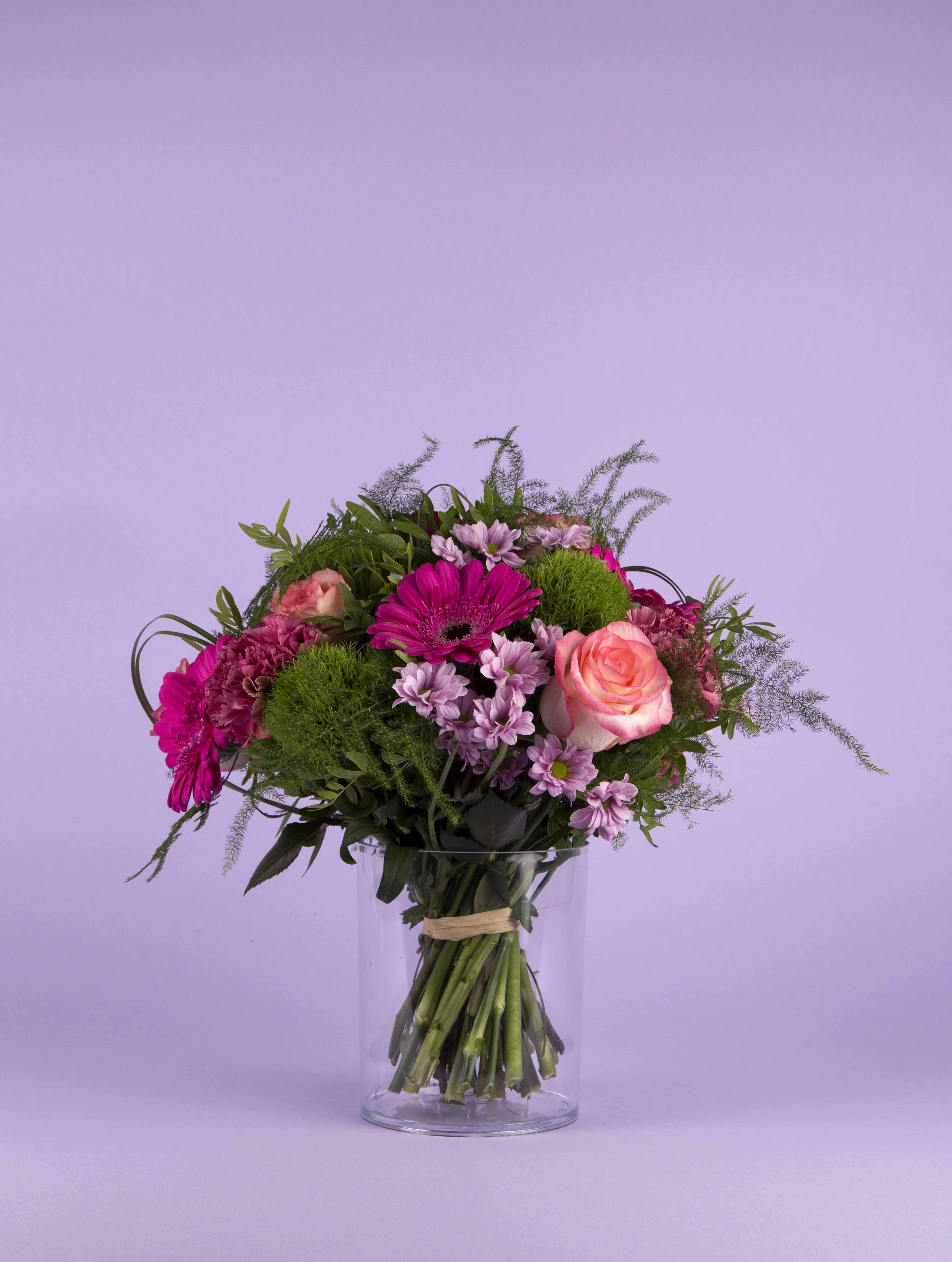 bouquet de fleurs camaieu