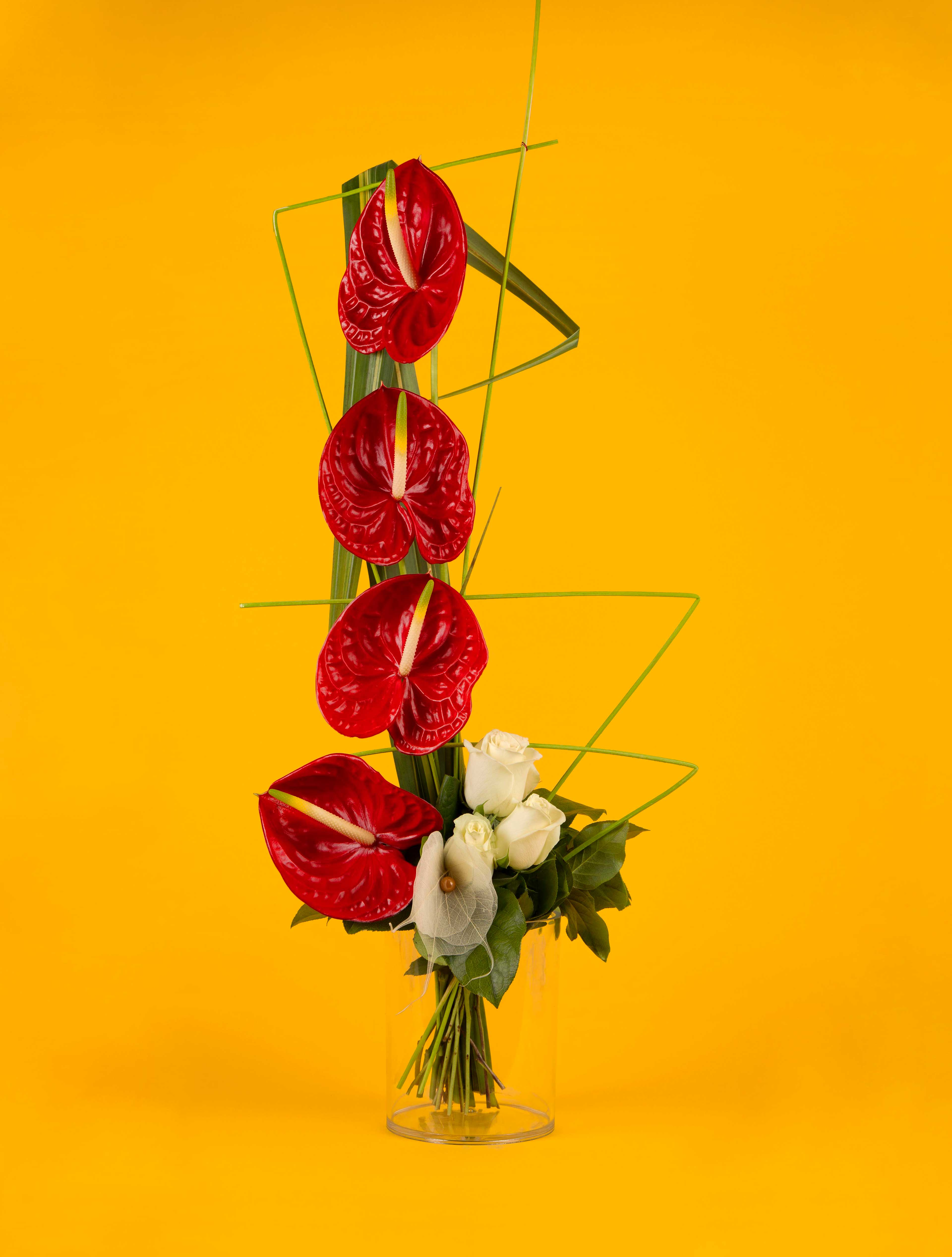 Red Origami - bouquet graphique