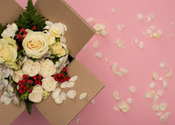 Livraison de fleurs pendant le confinement