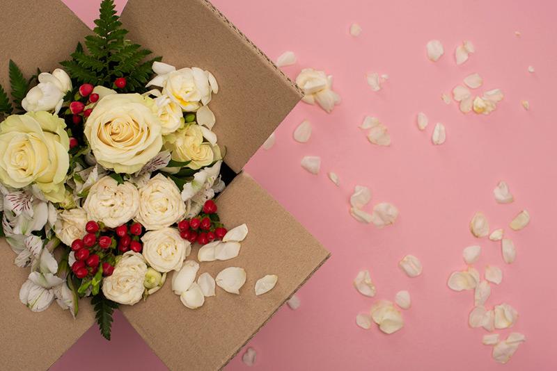 Livraison de fleurs à domicile ou au travail
