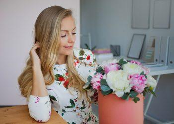 Livraison de fleurs au bureau